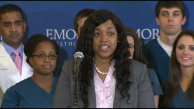 Recovered Ebola Patient Amber Vinson Remarks After Release From Hospital