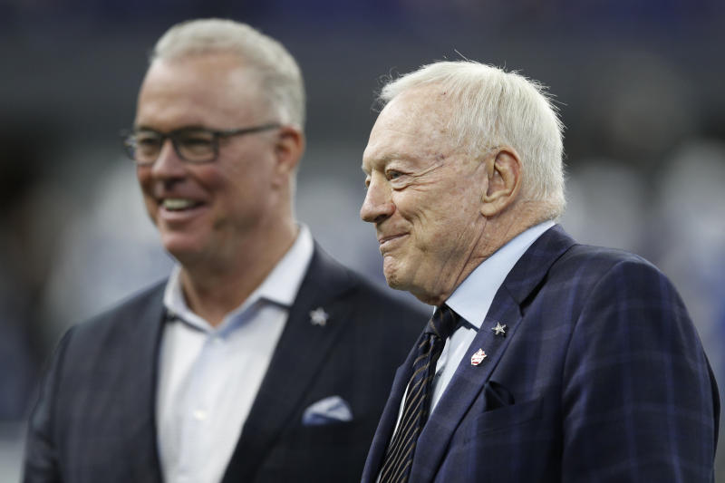 Stephen and Jerry Jones have been engaged in a public smearing of player agents this offseason. (Getty)