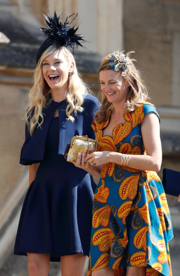 WINDSOR, UNITED KINGDOM - MAY 19: (EMBARGOED FOR PUBLICATION IN UK NEWSPAPERS UNTIL 24 HOURS AFTER CREATE DATE AND TIME) Chelsy Davy (l) attends the wedding of Prince Harry to Ms Meghan Markle at St George's Chapel, Windsor Castle on May 19, 2018 in Windsor, England. Prince Henry Charles Albert David of Wales marries Ms. Meghan Markle in a service at St George's Chapel inside the grounds of Windsor Castle. Among the guests were 2200 members of the public, the royal family and Ms. Markle's Mother Doria Ragland. (Photo by Max Mumby/Indigo/Getty Images)