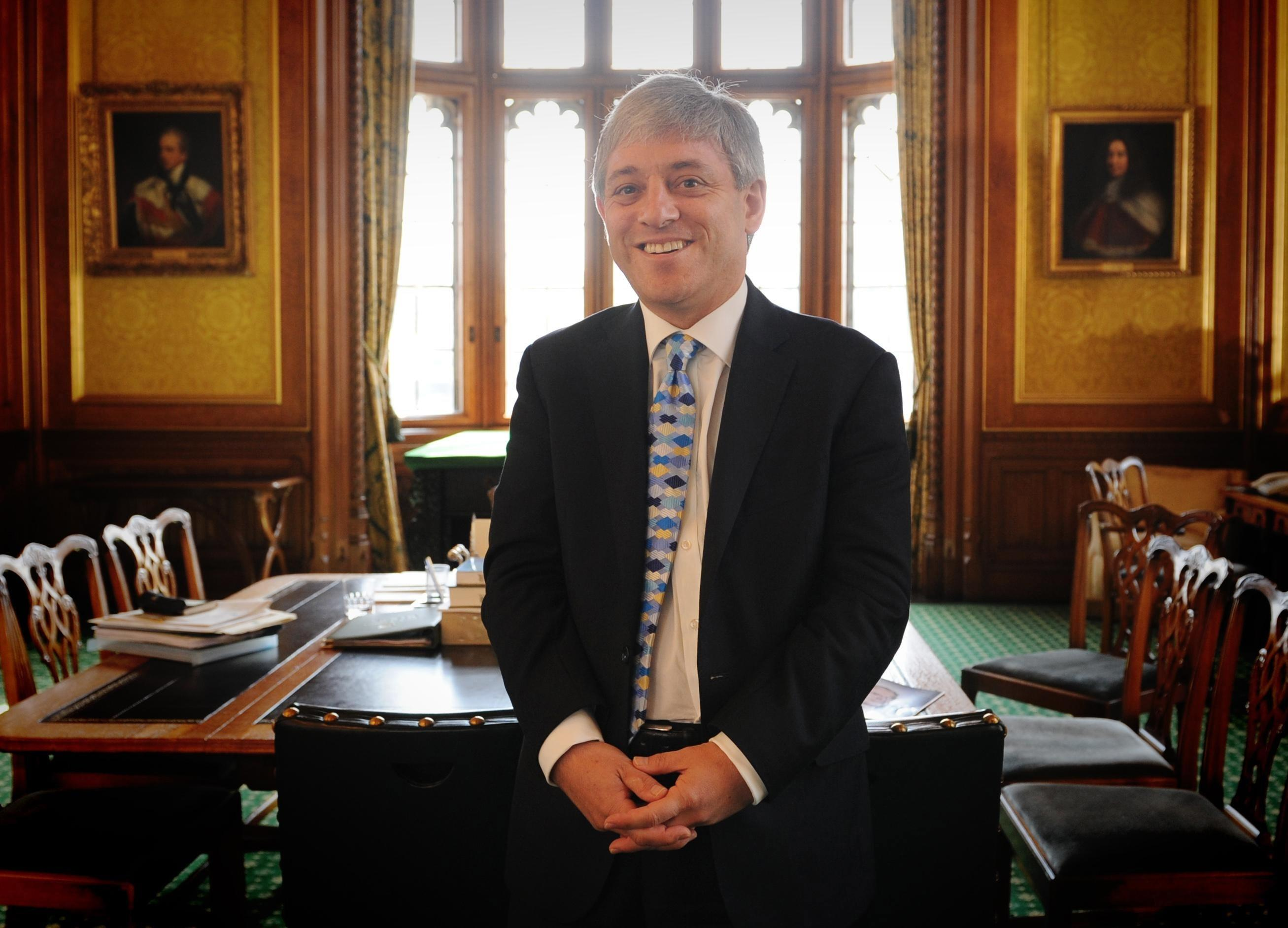 Decade on the job: Speaker Bercow in 2009 after landing the role. (PA)