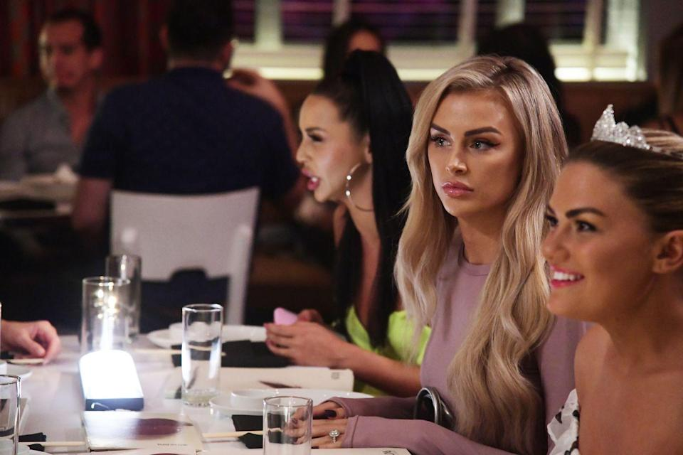 """<p>During a panel, Jax Taylor and Lala Kent told fans that everyone has a different contract with the network. Taylor shared that his <a href=""""https://realityblurb.com/2019/03/25/jax-taylor-and-lala-kent-reveal-10-vanderpump-rules-show-secrets-dish-on-show-contracts-if-they-still-work-at-sur-and-new-season/"""" rel=""""nofollow noopener"""" target=""""_blank"""" data-ylk=""""slk:was a five-year contract"""" class=""""link rapid-noclick-resp"""">was a five-year contract</a>, while Kent only signs up for two years at a time.</p>"""