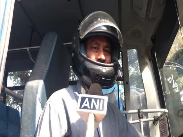 A North Bengal State Transport Corporation bus driver in conversation with ANI. (Photo/ANI)