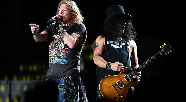 Aussies fans have waited 24 years to see the original Guns 'n' Roses line-up on local shores. Source: AAP