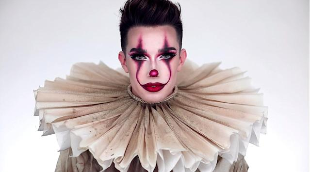 Makeup artist James Charles' Pennywise makeup tutorial didn't go over so well. (Photo: Youtube)
