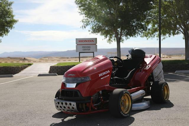 Driving Honda's 150-MPH Lawn Mower Is a Scary-Fast Thrill Ride
