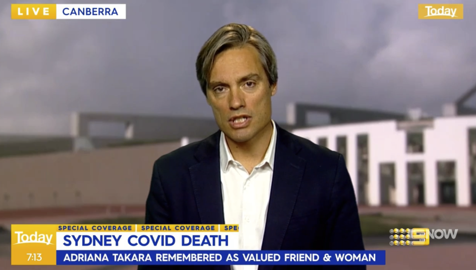 Deputy chief medical officer Dr Nick Coatsworth on the Today show
