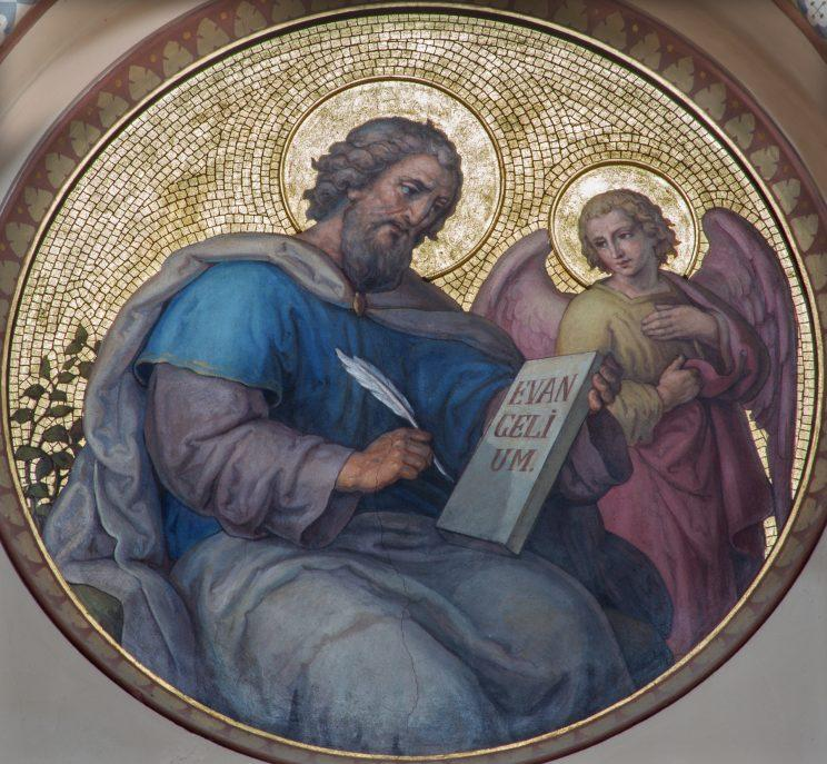 A fresco of St. Matthew the Evangelist by artist Josef Kastner. (Photo: Getty Images)