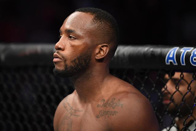 Leon Edwards has withdrawn from his fight against Tyrone Woodley at UFC Fight Night 171. (Josh Hedges/Zuffa LLC/Zuffa LLC via Getty Images)