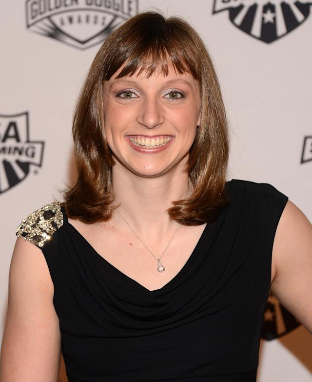NEW YORK, NY - NOVEMBER 19: Olympic athlete Katie Ledecky attends the 2012 Golden Goggle awards at the Marriott Marquis Times Square on November 19, 2012 in New York City. (Photo by Stephen Lovekin/Getty Images)