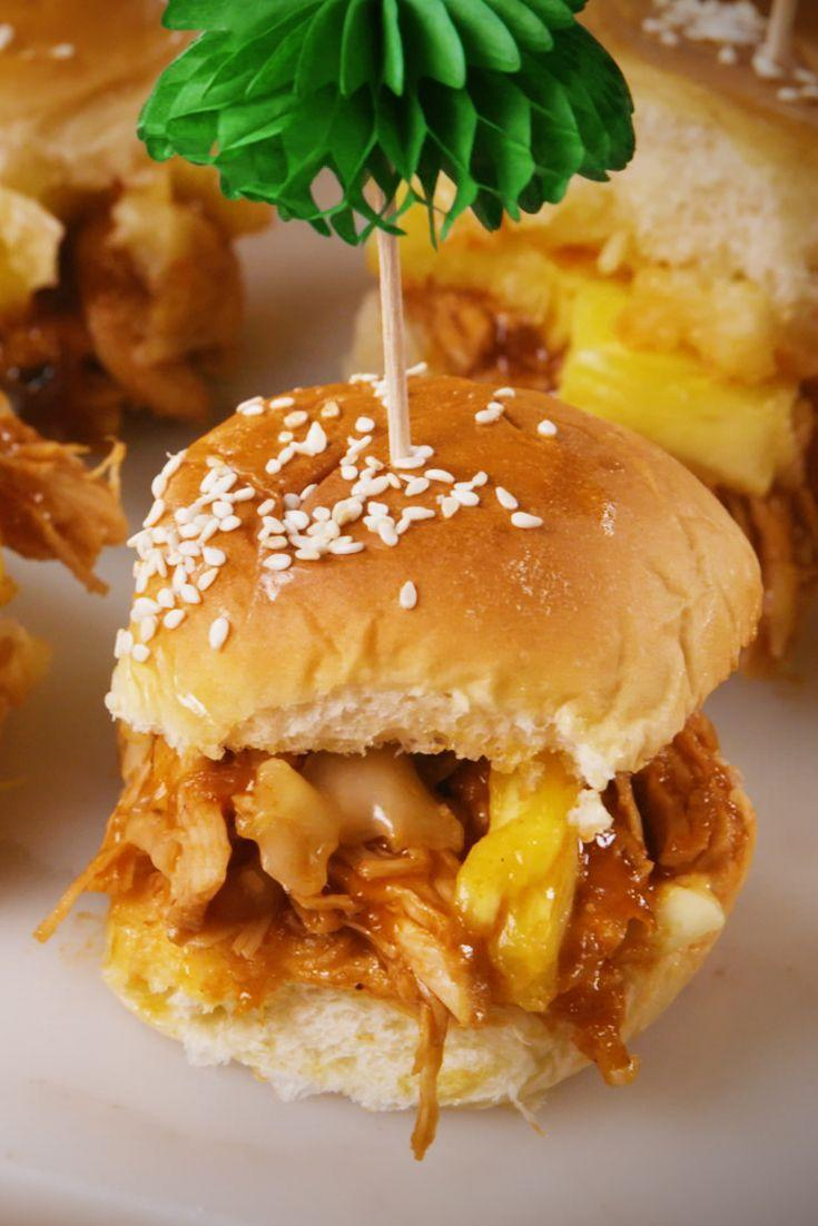 "<p>These pulled pork and pineapple sliders will steal the show at your Halloween party.</p><p>Get the recipe from <a href=""https://www.delish.com/cooking/recipe-ideas/a22781509/tropical-bbq-sliders-recipe/"" rel=""nofollow noopener"" target=""_blank"" data-ylk=""slk:Delish"" class=""link rapid-noclick-resp"">Delish</a>.</p>"