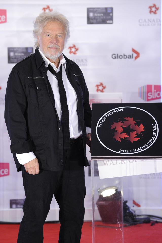 Randy Bachman Canada's Walk of Fame Star unveilings at the Ed Mirvish Theatre Toronto, Canada - 22.09.12  Mandatory Credit: Dominic Chan/WENN.com