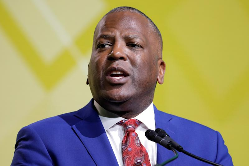 Columbia, SC Mayor Steve Benjamin speaks at the United States Conference of Mayors winter meeting in Washington, U.S., January 24, 2019. REUTERS/Yuri Gripas