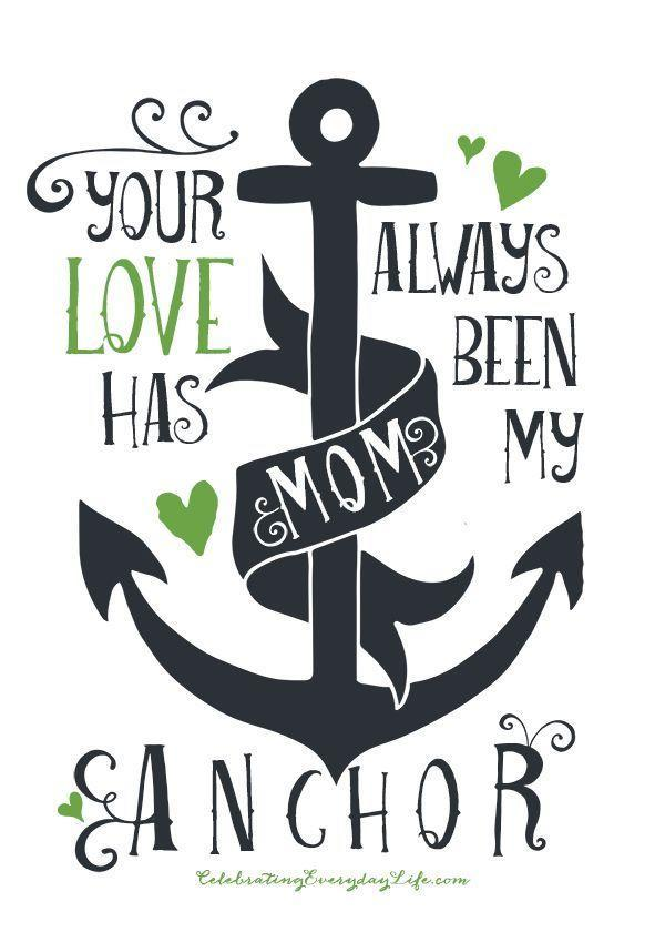 """<p>This playful card is the best choice for the woman who loves all things nautical. Who doesn't love a sea pun?</p><p><em><strong>Get the printable at <a href=""""http://celebratingeverydaylife.com/mothers-day-printable-your-love-has-always-been-my-anchor/?utm_source=feedblitz&utm_medium=FeedBlitzRss&utm_campaign=celebratingeverydaylifeblog"""" rel=""""nofollow noopener"""" target=""""_blank"""" data-ylk=""""slk:Celebrating Everyday Life"""" class=""""link rapid-noclick-resp"""">Celebrating Everyday Life</a>.</strong></em></p>"""
