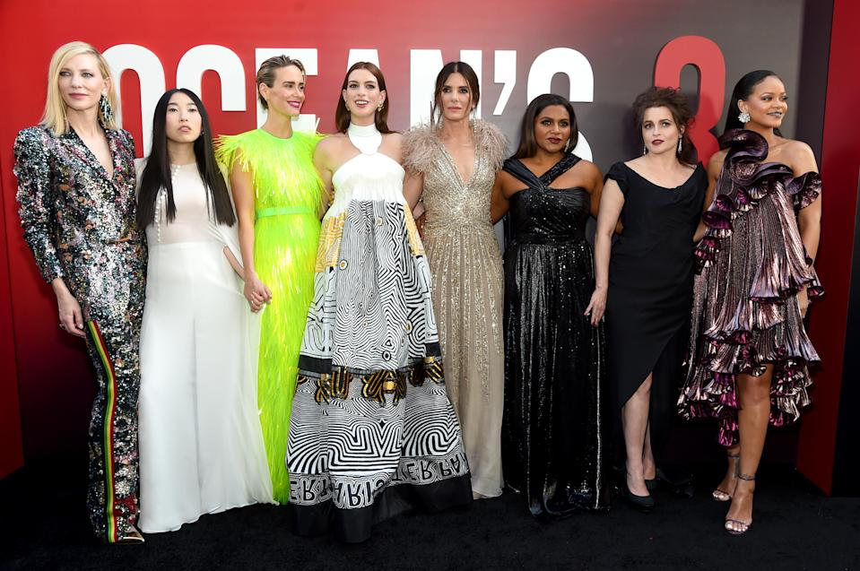 The cast of Ocean's 8 at the New York City film premiere.