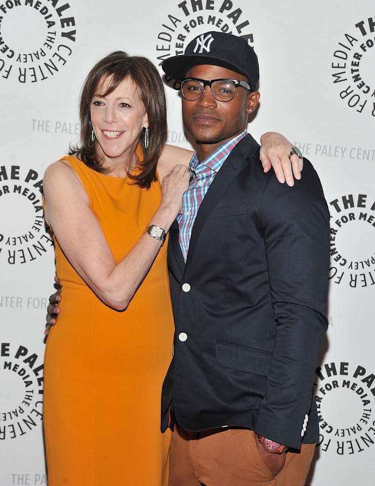 """NEW YORK, NY - APRIL 12:  Executive producer Jane Rosenthal (L) and Harold House Moore attend The Paley Center For Media Presents New York Premiere Of """"NYC 22"""" at Paley Center For Media on April 12, 2012 in New York City.  (Photo by Mike Coppola/Getty Images)"""