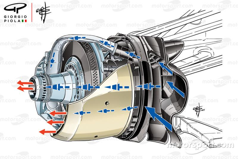 Williams FW35 front brake duct, captioned