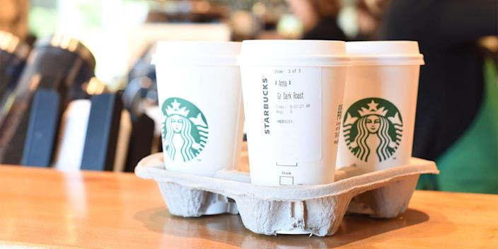 Katta said that drinks with lots of sugar, like sweetened coffee, can cause acne. (Starbucks)