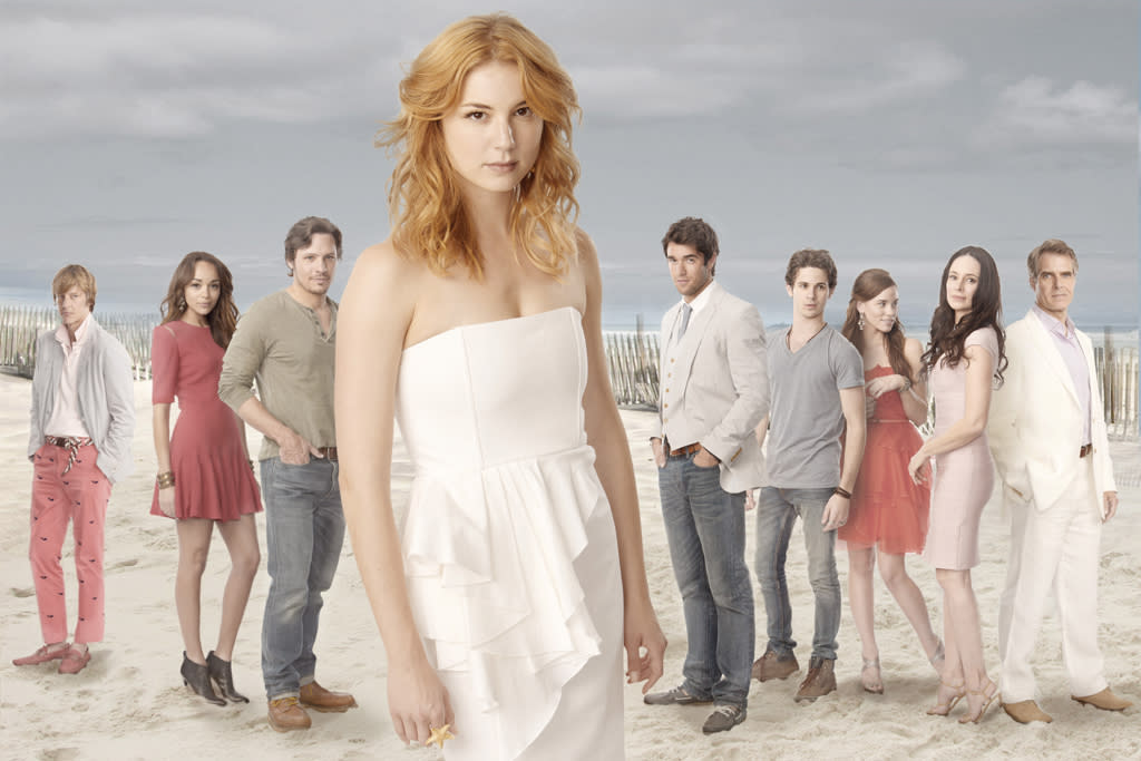 """<b>""""Revenge""""</b><br>Wednesday, 5/23 at 10 PM on ABC<br><br>All season long on ABC's addictive soap, we've watched Emily Thorne exact her vengeance on the posh Grayson family for framing her father. So will ice-queen matriarch Victoria finally get her well-deserved comeuppance? Since a second season is a virtual lock, we're guessing not. Instead, creator Mike Kelley promises a cliffhanger that will keep us guessing all summer long -- and the death of a major character. Please don't let it be Sam; we love that old mutt.<br><br><a href=""""http://yhoo.it/IHaVpe%20"""">More on Upcoming Finales </a>"""