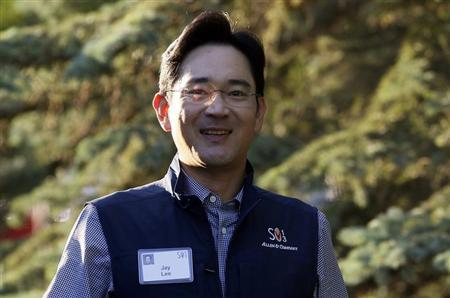 Jay Lee, Samsung Electronics vice chairman, arrives for the first session of annual Allen and Co. conference at the Sun Valley