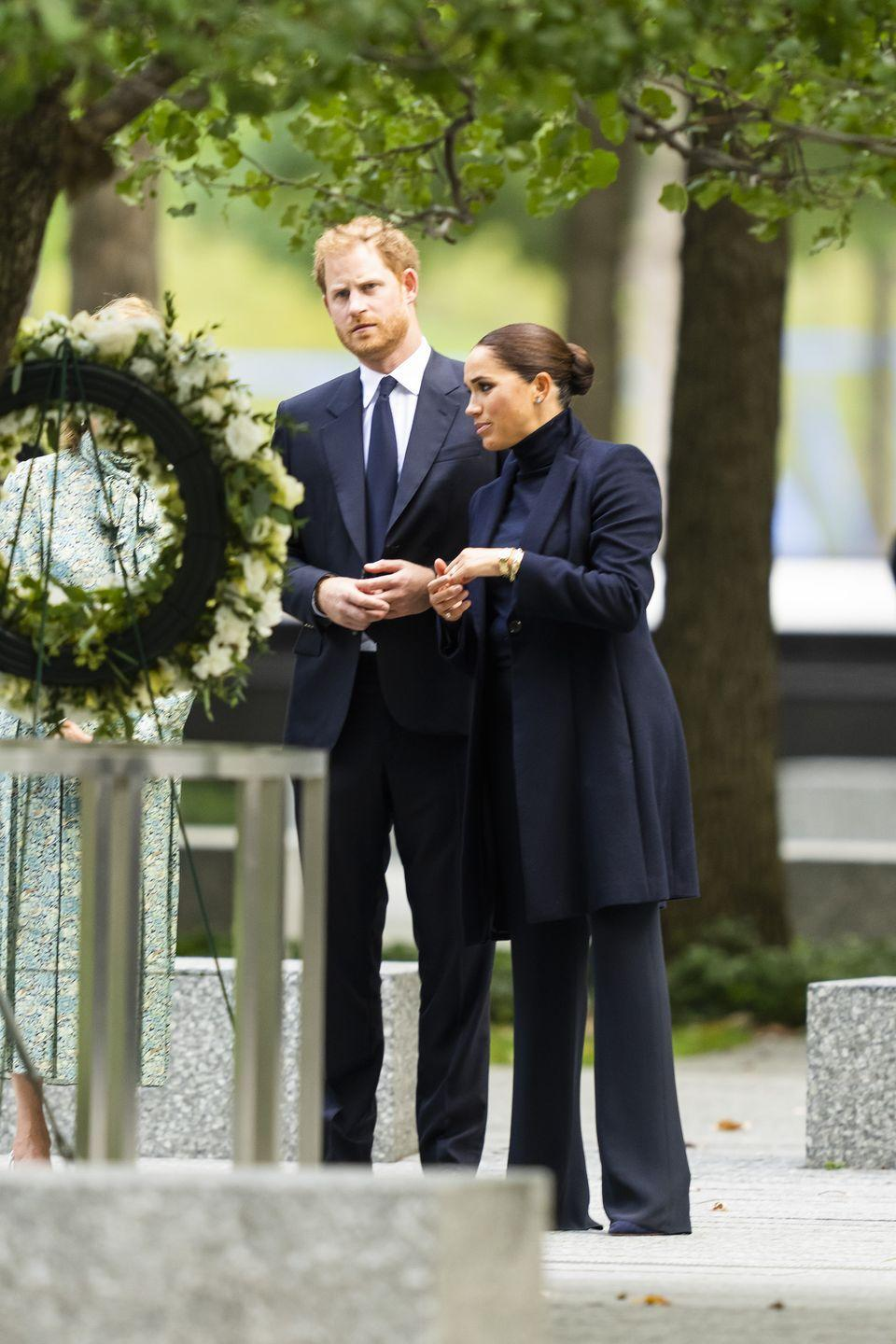 <p>Afterward, Harry and Meghan toured the building and 9/11 memorial grounds with the group. </p>