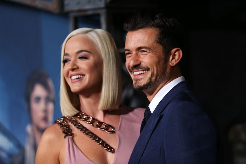 Katy Perry has announced she is expecting a baby with Orlando Bloom, pictured here August 2019 (Getty)