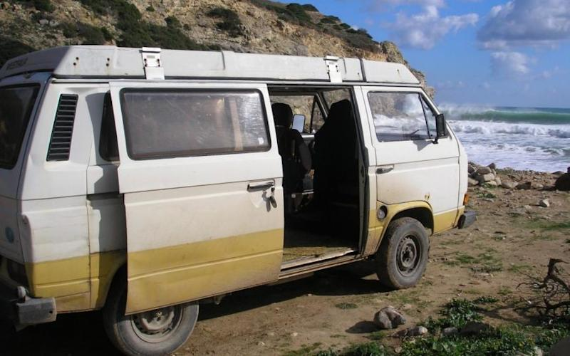 Police believe the suspect was living in a camper van (pictured in 2007) in the Praia da Luz area on the day Madeleine disappeared - Metrpolitan Police