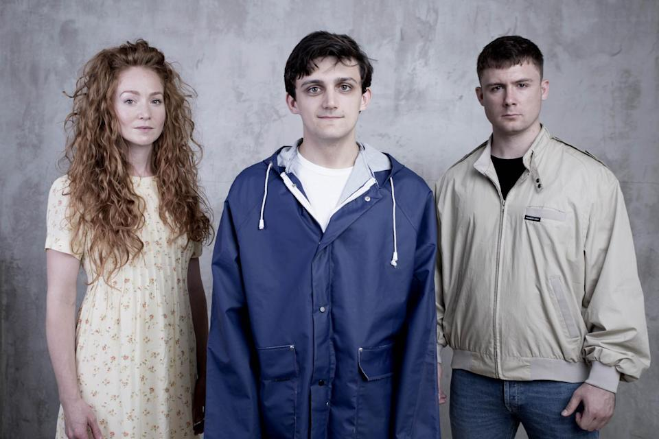'Eyes Closed, Ears Covered' is a moving three-hander play. Copyright: [Bunker Theatre]