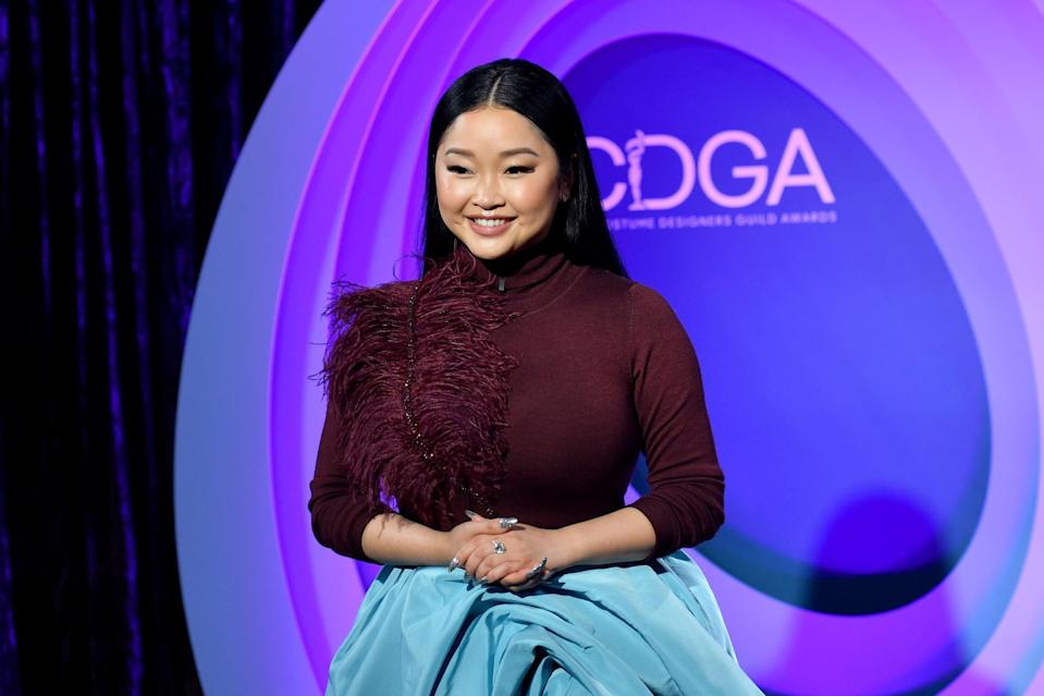 LOS ANGELES, CALIFORNIA - APRIL 13: In this image released on April 13, Lana Condor attends the 23rd Costume Designer Guild Awards on April 13, 2021 in Los Angeles, California. (Photo by Stefanie Keenan/Getty Images for the CDGA)