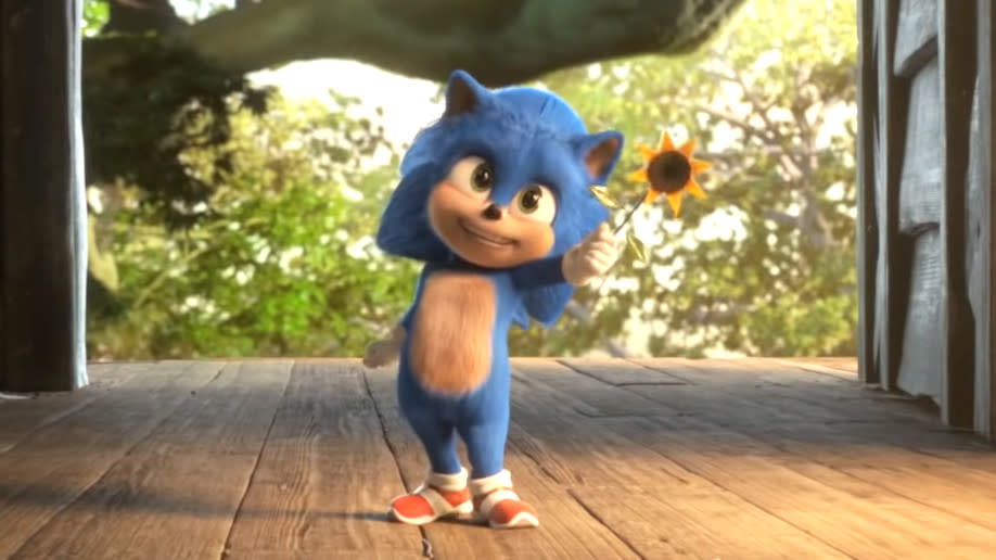 The new 'Sonic the Hedgehog' trailer unveiled Baby Sonic. (Credit: SEGA)
