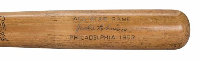 Jackie Robinson game-used bat from 1952