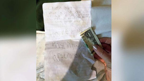 PHOTO: Hallister Senn, 8, got a hilarious letter from the tooth fairy after he asked her for more money. (Courtesy of Elizabeth Senn)
