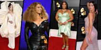 """<p>The world has been starved of red-carpet glamour for the past 12 months, making this awards season all the more exciting for those of us who love a bit of celebrity fashion – and the stars are certainly making up for lost time with their choice of attire.</p><p>Following on from the <a href=""""https://www.harpersbazaar.com/uk/fashion/g35675552/golden-globes-2021-best-dressed/"""" rel=""""nofollow noopener"""" target=""""_blank"""" data-ylk=""""slk:glitzy arrivals at the virtual Golden Globes"""" class=""""link rapid-noclick-resp"""">glitzy arrivals at the virtual Golden Globes</a> and the many standout looks from last weekend's <a href=""""https://www.harpersbazaar.com/uk/fashion/g35760163/critics-choice-awards-2021-red-carpet/"""" rel=""""nofollow noopener"""" target=""""_blank"""" data-ylk=""""slk:Critics' Choice Awards"""" class=""""link rapid-noclick-resp"""">Critics' Choice Awards</a>, Sunday evening saw the 2021 Grammys take place in Los Angeles with many in-person attendees and the likes of Beyoncé, Dua Lipa, Lizzo and Harry Styles certainly delivering in the fashion stakes. </p><p>Scroll down to see the fashion highlights you need to see from the 2021 Grammy Awards.</p>"""