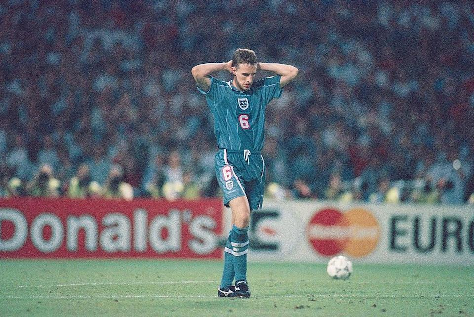 Now England manager, Southgate missed a crucial penalty against Germany at Euro 96 (Getty Images)