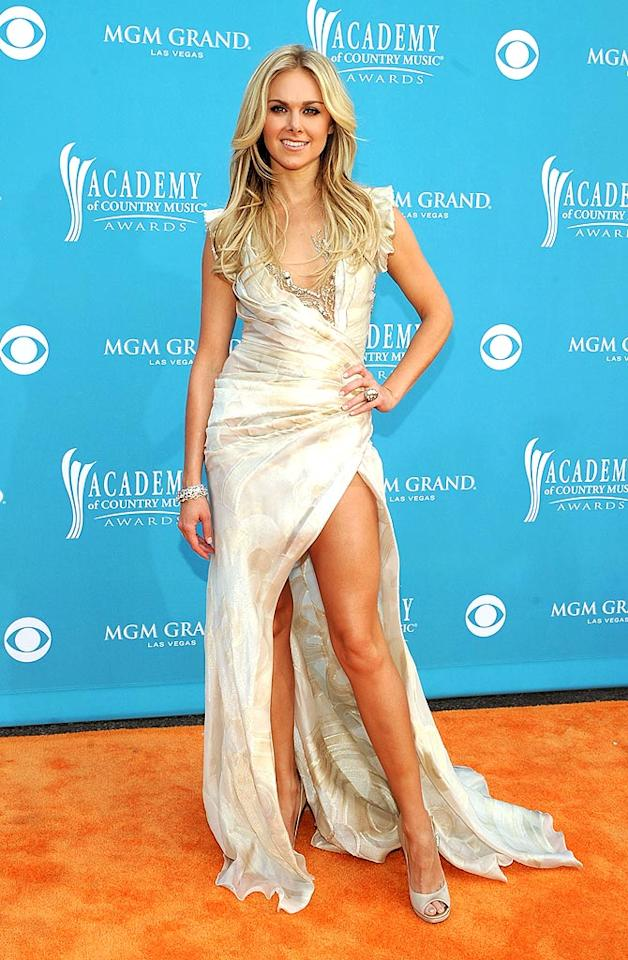 """Laura Bell Bundy  Grade: A+   The Broadway beauty earned rave reviews and showed off her seriously toned stems in an ethereal, champagne-colored frock and pale, peep-toe heels. Rick Diamond/<a href=""""http://www.gettyimages.com/"""" target=""""new"""">GettyImages.com</a> - April 18, 2010"""