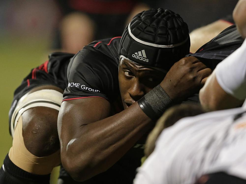 Maro Itoje during a scrum (Getty)