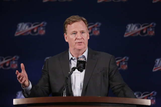 NFL commissioner Roger Goodell has wide ranging power to discipline players. (AP)