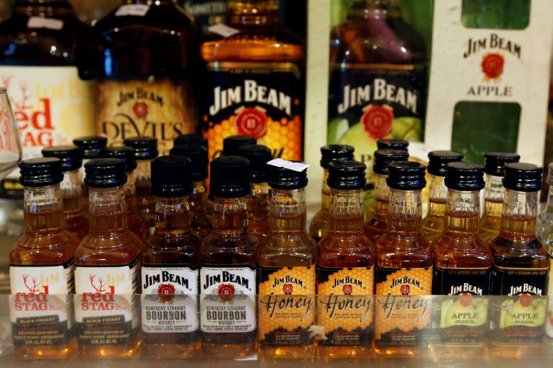 Beam Suntory sees sales improving after pandemic hurt drinking