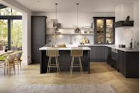 """<p>Bar stools for kitchen islands have become an ever increasing trend, with hundreds of different styles available. From stylish gold to on-trend wicker, they are fundamental to the overall look of the room. </p><p>• 'Relaxed Look' kitchen with 'Carbon' and 'Chalk' paint from <a href=""""https://www.life-kitchens.co.uk/"""" rel=""""nofollow noopener"""" target=""""_blank"""" data-ylk=""""slk:Life Kitchens"""" class=""""link rapid-noclick-resp"""">Life Kitchens</a></p>"""