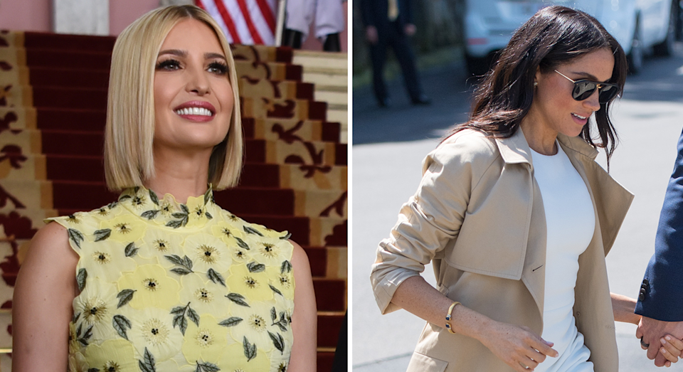 Ivanka Trump and Meghan Markle both own a pair of Rothy's pumps [Photo: Getty Images]