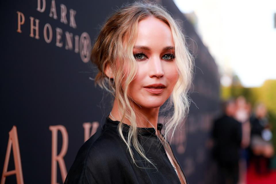 "HOLLYWOOD, CALIFORNIA - JUNE 04: Jennifer Lawrence attends the premiere of 20th Century Fox's ""Dark Phoenix"" at TCL Chinese Theatre on June 04, 2019 in Hollywood, California. (Photo by Rich Fury/Getty Images)"