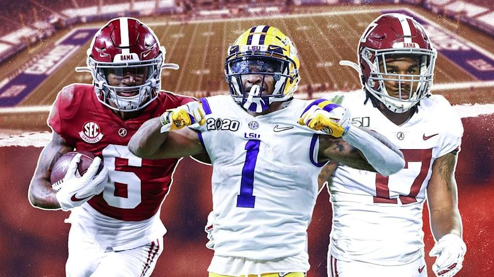 DeVonta Smith/Ja'Marr Chase/Jaylen Waddle