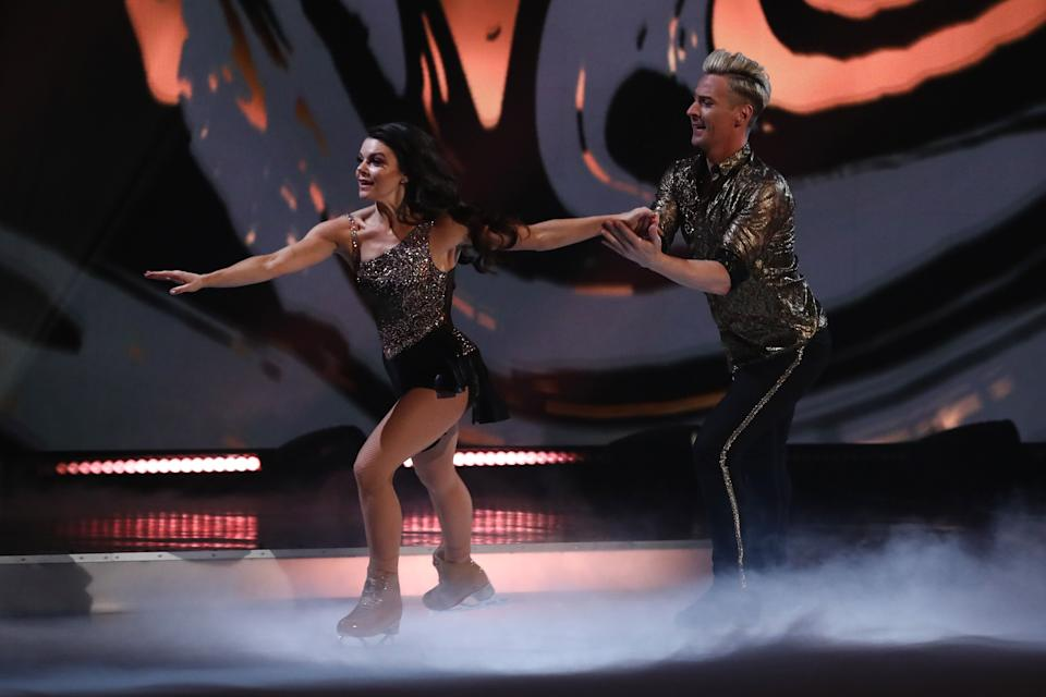 Editorial use only Mandatory Credit: Photo by Matt Frost/ITV/Shutterstock (11789729eg) Faye Brookes and Matt Evers - The Best 'Dancing On Ice' TV show, Series 13, Episode 7, Hertfordshire, UK - 07 Mar 2021