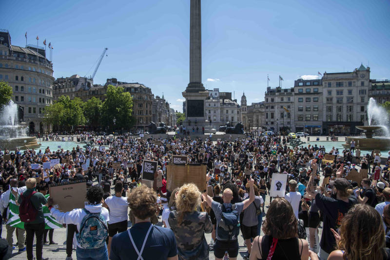Protest �Black Lives Matter� - Kneel for Floyd - at Trafalgar Square, London