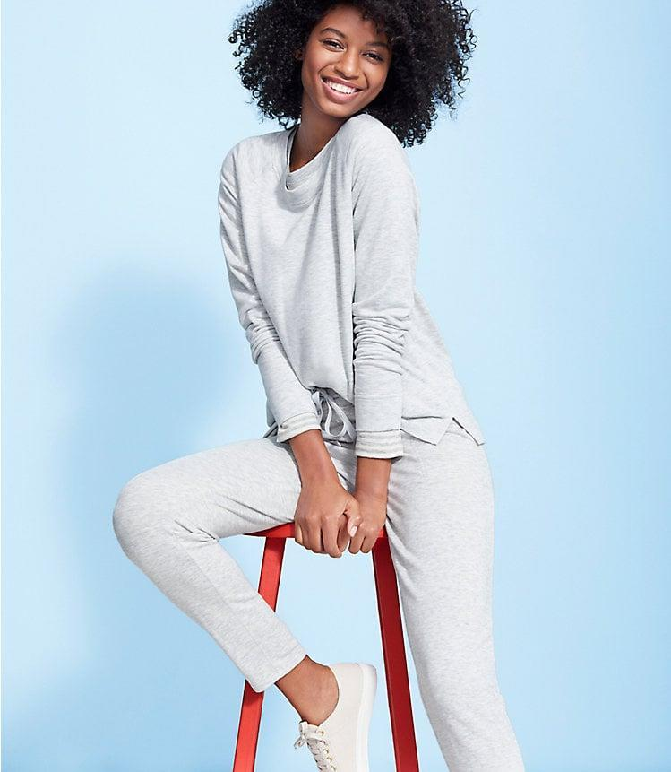 <p>The cozy <span> Lou &amp; Grey Signature Softblend Sweatshirt<br> </span> ($70) and <span>Lou &amp; Grey Signature Softblend Sweatpants</span> ($70) is perfect for any fashion-lover off duty.</p>