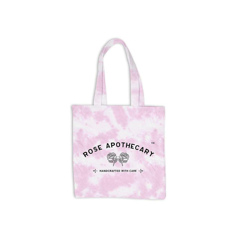 """<p><strong>Schitt's Creek Shop</strong></p><p>schittscreek.shop</p><p><strong>$16.00</strong></p><p><a href=""""https://schittscreek.shop/product/rose-apothecary-tie-dye-tote-pink/"""" rel=""""nofollow noopener"""" target=""""_blank"""" data-ylk=""""slk:Shop Now"""" class=""""link rapid-noclick-resp"""">Shop Now</a></p><p>NGL, this list was almost 100 percent Rose Apothecary products. They're all so cute!! This is also from the official <em>Schitt's Creek </em>store. The pink tie-dye just <em>gets me</em>. </p>"""