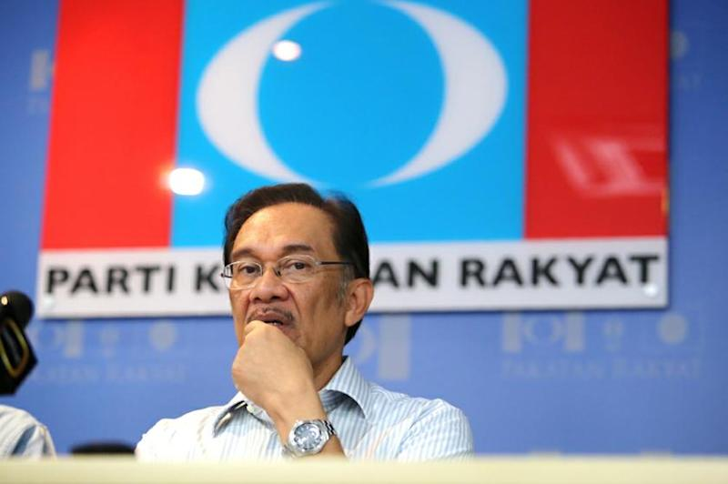Then Opposition leader Anwar had organised to convince 30 to 40 BN MPs to cross over in a bid to topple the government. — Picture by Choo Choy May