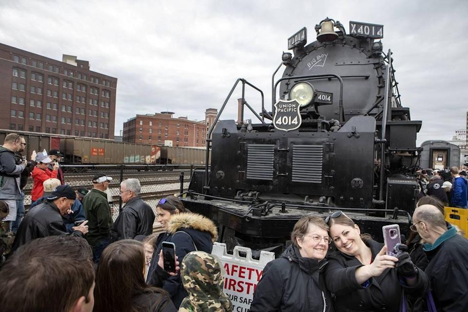 Union Pacific's Big Boy No. 4014 will arrive Aug. 9 for the first of two stops at Union Station. It will return Aug. 31.