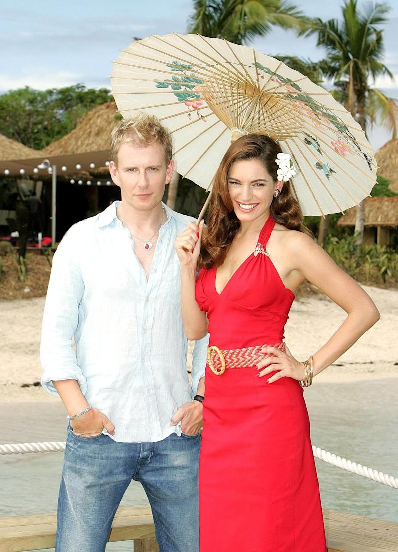 <strong>Patrick with original co-host Kelly Brook</strong> (Photo: Rex/Shutterstock/ITV)