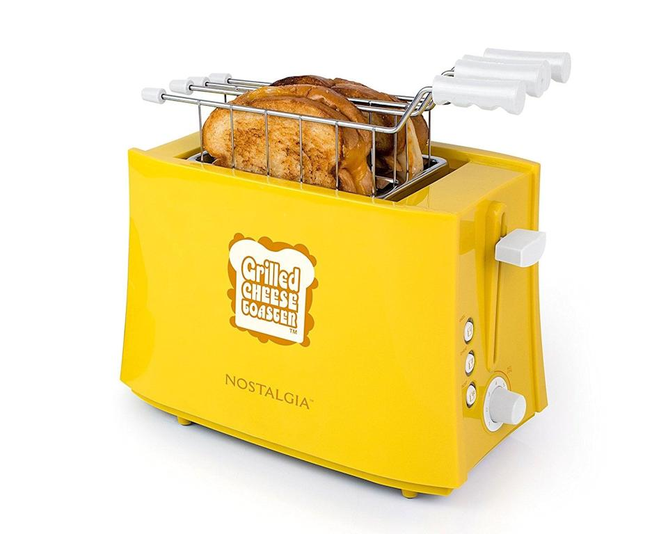 <p>If they like it hot, this <span>Nostalgia TCS2 Grilled Cheese Sandwich Toaster</span> ($19) makes gooey grilled cheese in minutes.</p>