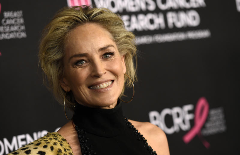 "Actress Sharon Stone poses at ""An Unforgettable Evening"" benefiting the Women's Cancer Research Fund, at the Beverly Wilshire Hotel, Thursday, Feb. 28, 2019, in Beverly Hills, Calif. (Photo by Chris Pizzello/Invision/AP)"
